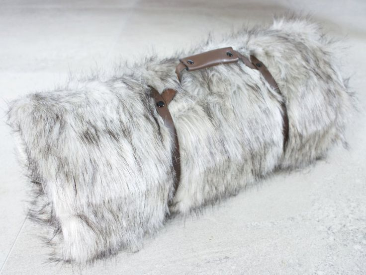 Wolf Faux Fur Throw NZ $145, I am lined with soft black velboa & ready to snuggle when you are!