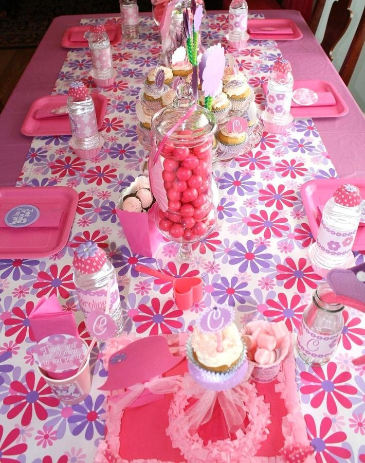 table scape, I would use different colors