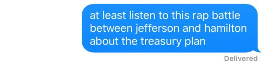 Trying to get people to listen to Hamilton like