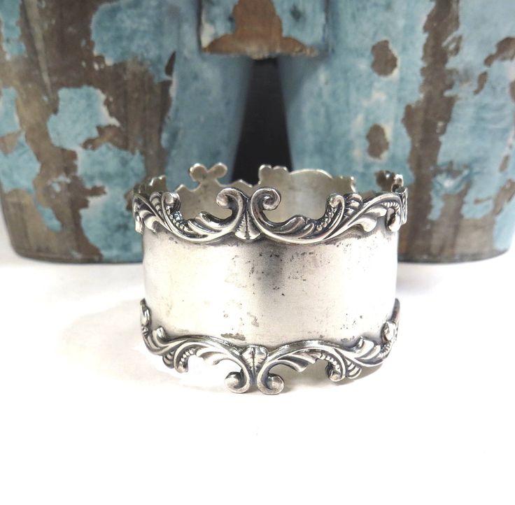 Sterling Silver Napkin Ring Vintage Ornate Scrolled Edge Victorian Sterling Silver Napkin Ring by VintageCreekside on Etsy