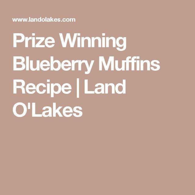 Prize Winning Blueberry Muffins Recipe | Land O'Lakes