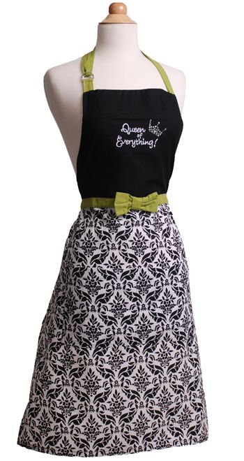 Womens Apron KayDee Queen of Everything $34.95 AT vintagedancer.com