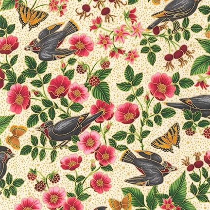 Robert Kaufman Fabrics: AYEM-14668-15 IVORY by Ayse Gilbert from Midnight Sun