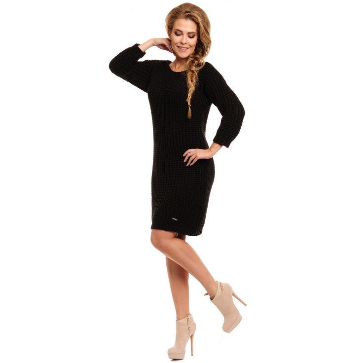 Rochie lemoniade tricotata casual neagra