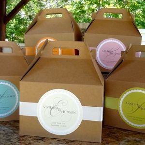 Custom Hotel Welcome Boxes, Personalized Kraft Gable Boxes  http://www.graciousbridal.com/large-personalized-wedding-welcome-boxes.html