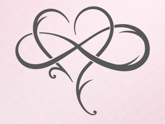 Valentine Day SVG The Love Between Mother and Daughter SVG File for Cricut Infinity Symbol Heart Clipart Sign Polyamory Silhouette Laser Cut