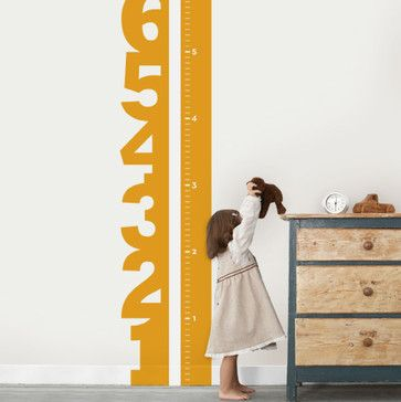 Growth Chart Numbers Wall Decal - Nursery Decor - Simple Shapes