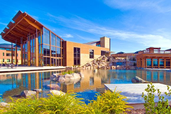 Epic Systems...this isn't where I work, but I am certified in Ambulatory med and ASAP for their EMR system. This is their campus in Verona, WI and it is absolutely gorgeous. I go here for certifications