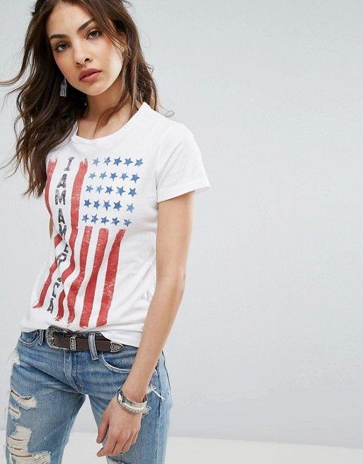 Denim Supply by Ralph Lauren camiseta con la bandera estadounidense