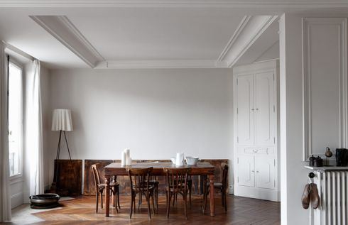 dark wood + all white