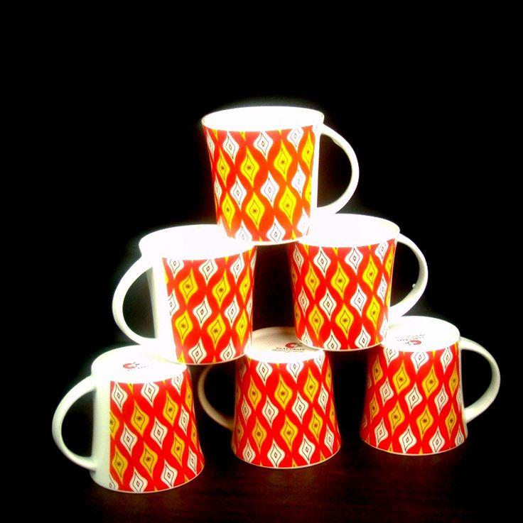 Fine Bone China Mug Set