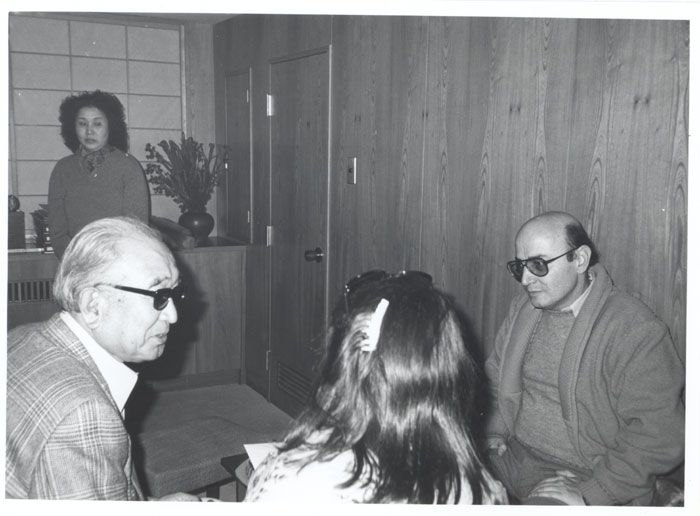 Theo Angelopoulos here with Akira Kourosawa