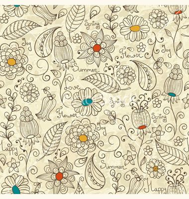 Seamless floral pattern vector - by alexmakarova on VectorStock®