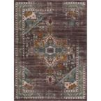 Laurent Chelsea Blue 7 ft. 10 in. x 9 ft. 10 in. Modern Tribal Vintage Farmhouse Area Rug