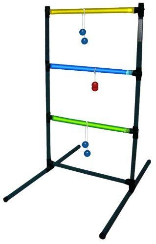 """Triumph #35-7073 is a LED Ladder Toss Game in Colors of Black with Green and Blue Cross Bars by Triumph Sports. $33.82. The Led Ladder Toss Game provides hours of fun both day and night.. Includes 6 glow bolas with mini glow sticks.. Includes 2 LED ladders.. Includes 1 carrying bag.  Set up size is 39"""" High x 23.5"""" Wide.. Scoring is manual.. Triumph #35-7073 is a LED Ladder Toss Game in Colors of Black with Green and Blue Cross Bars. Save 25% Off!"""