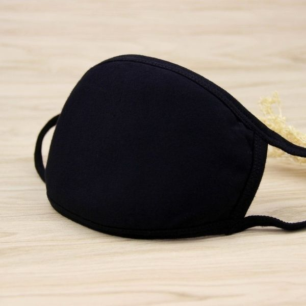 Cotton Face Masks Pattern Solid Black Mask Cute Half Face Mouth Muffle
