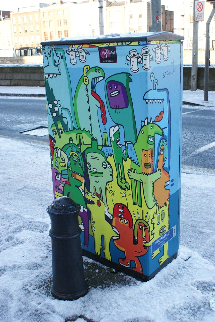Best RubbisH Images On Pinterest Graffiti Public Art And - Street artist turns street furniture into characters