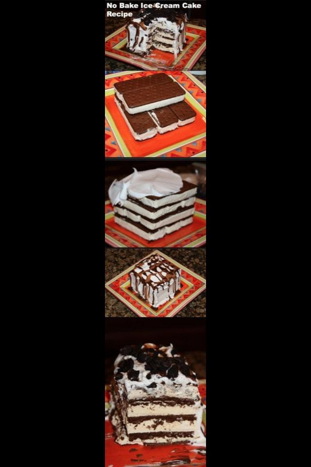 Homemade icecream cake