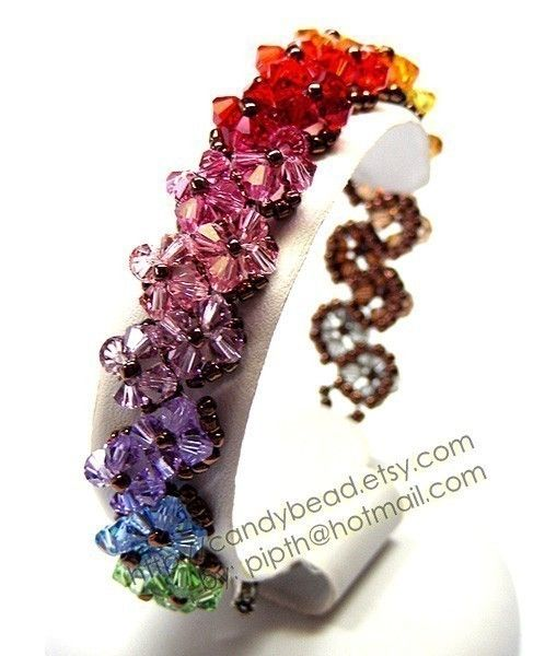 zig-zag rainbow shade bracelet by candybead via etsy.com $19.50