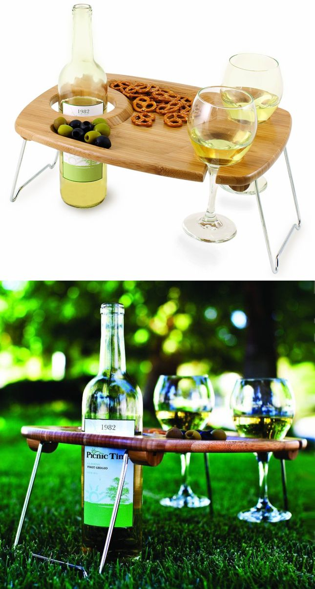 Picnic Wine & Snack Table.. Also, I imainge, good for drinking wine in BED!! :)