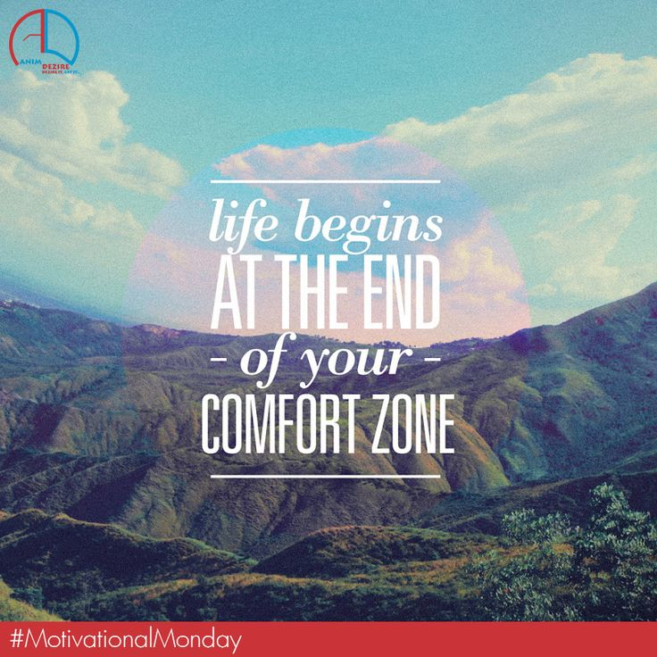 Comfort zone......It only guards you from success. ‪#‎MotivationalMonday‬