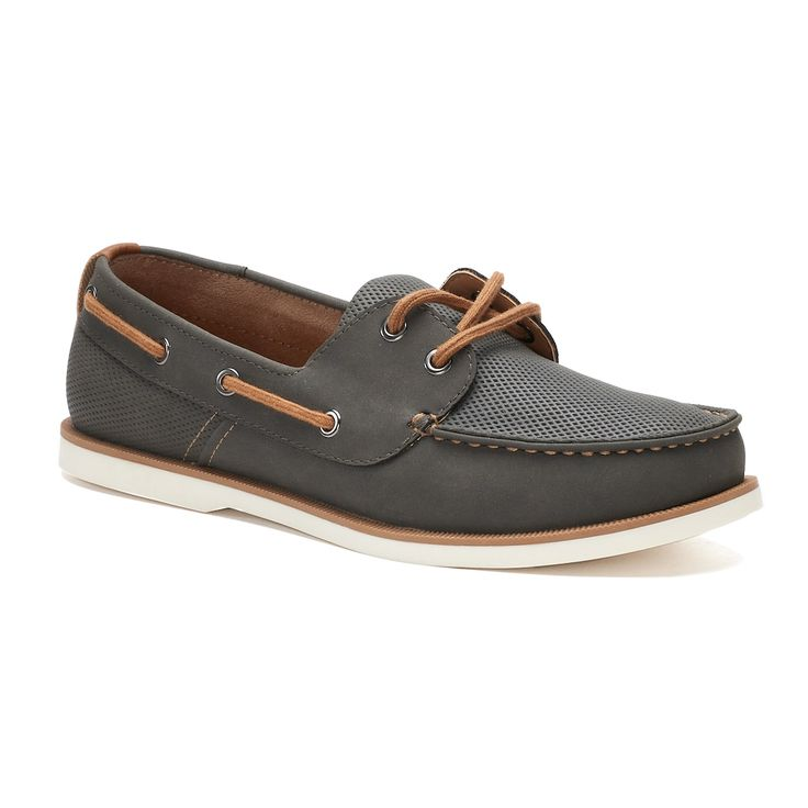 SONOMA Goods for Life™ Mitchell Men's Boat Shoes, Size: 10.5 Wide, Grey