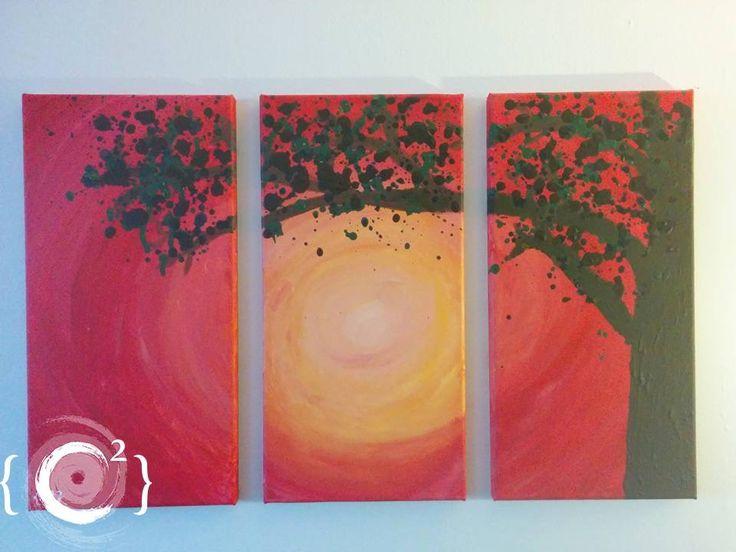 """Abstract tree in the sun"" Acrylic painting by Catie Corbin www.catiecorbin.com https://facebook.com/catiecorbin.graphiste/"