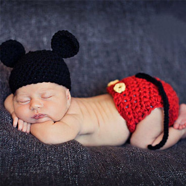 Baby Crochet Knit Costume Photo Newborn Photography Props Girls Boys Outfits Fotografia Clothes and Accessories