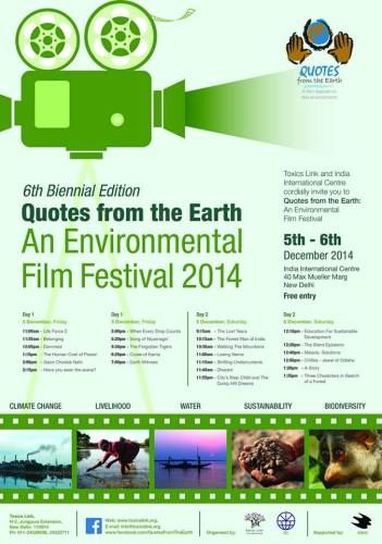 Quotes from the earth – An environmental film festival – Stagephod.org