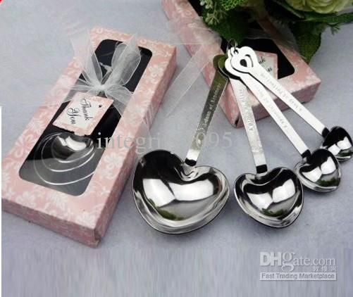 Wholesale Christmas Gifts - Buy Hot Sell Heart Measuring Spoons in Gift Pink Box Wedding Souvenirs And Gifts, $4.89 | DHgate
