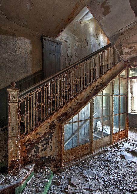 Staircase in the Buck Hill Inn at the Poconos, Pennsylvania.