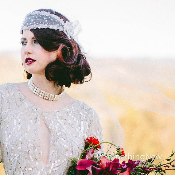 Great Gatsby 1920's style wedding headband by BeSomethingNew, $120.00
