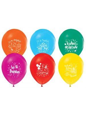 Doğum Günü Balonları (25 Adet Renkli)