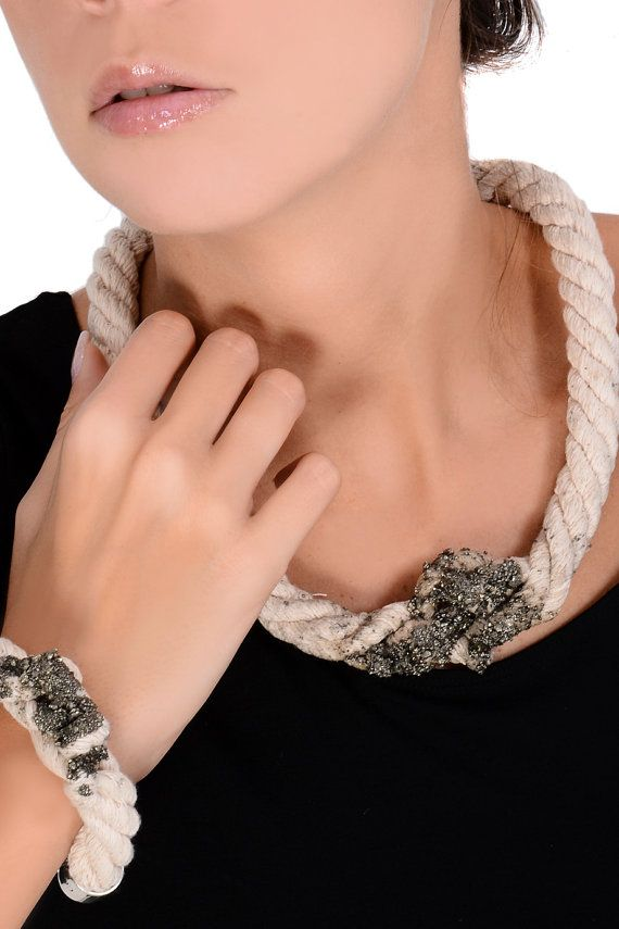Statement Necklace  One of a Kind Rope Necklace by EleannaKatsira, €54.00
