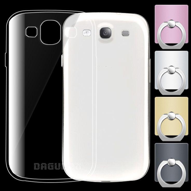 Soft Silicone Transparent TPU sFor Samsung Galaxy S3 Case i9300 For Samsung Galaxy S3 Neo Case  i9300i Back cover stander ><