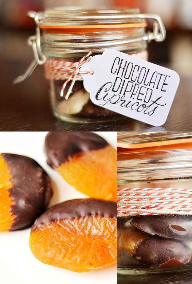 Chocolate-Dipped Apricots   24 Delicious Food Gifts That Will Make Everyone Love You