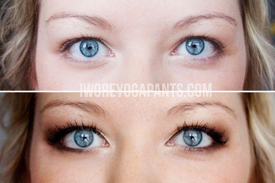 Wenn Du eher wärmere Farben magst, gibt es hier smokey eyes im Kupfer-Look. | 13 Make-Up-Tipps wenn Du Schlupflider hast