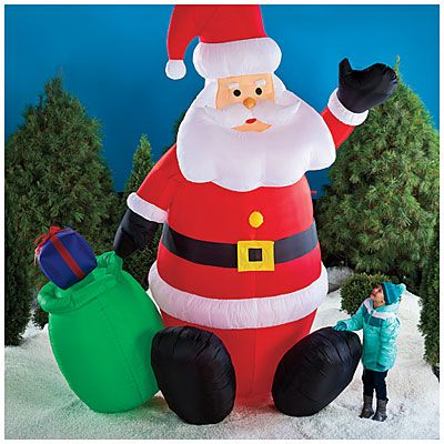 Giant 12 Lighted Inflatable Santa At Big Lots