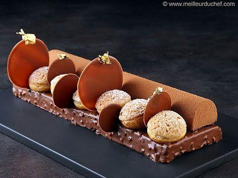 Bûche Saint Honoré brownie par Philippe Bertrand - YouTube