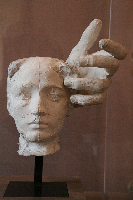 Rodin - Mask of Camille Claudel and Left Hand of Pierre Wissant .
