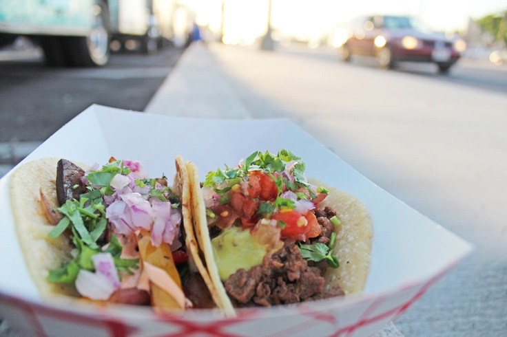 """This is our definition of """"street tacos"""" ....    Today 11A to 2P SoHo Taco has the honor of serving lunch alongside our Garlicscapes buddies at The Trucks at Park Place (3333 Michelson, Irvine, CA).  Come enjoy the finest street food Orange County has to offer!    More info: http://www.sohotaco.com/2012/09/28/today-11a-to-2p-lunch-at-park-place-of-irvine-join-us/"""