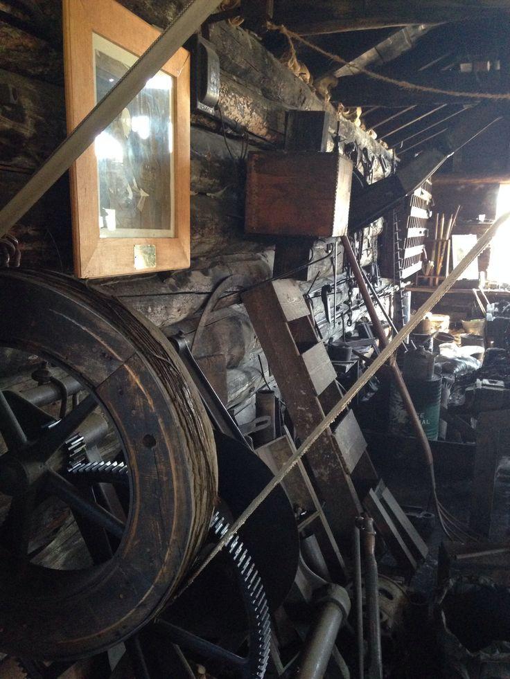 Machinery of days past. blacksmith Shop Sexsmith AB