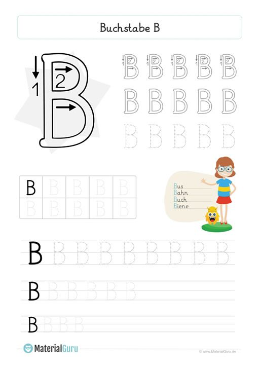 neu ein kostenloses deutsch arbeitsblatt zum buchstaben b f r die grundschule auf dem die. Black Bedroom Furniture Sets. Home Design Ideas