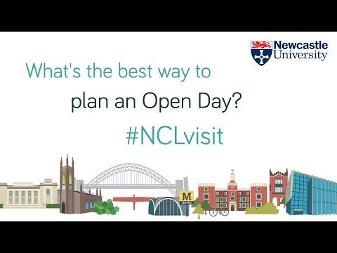 How to Plan for a University Open Day - Newcastle University Open Days - YouTube