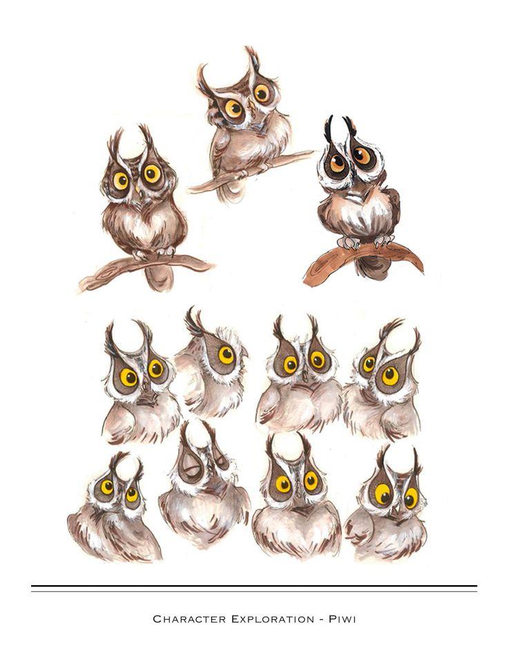 152 best images about cartoon birds on pinterest cartoon for Cartoon owl sketch