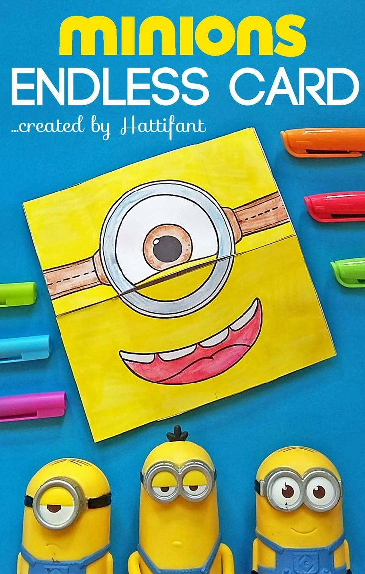 Here is an awesome MINION Craft for you! Hattifant's MINION Endless Card - make a neverending card with me. A coloring and crafting fun for all Minion Fans.