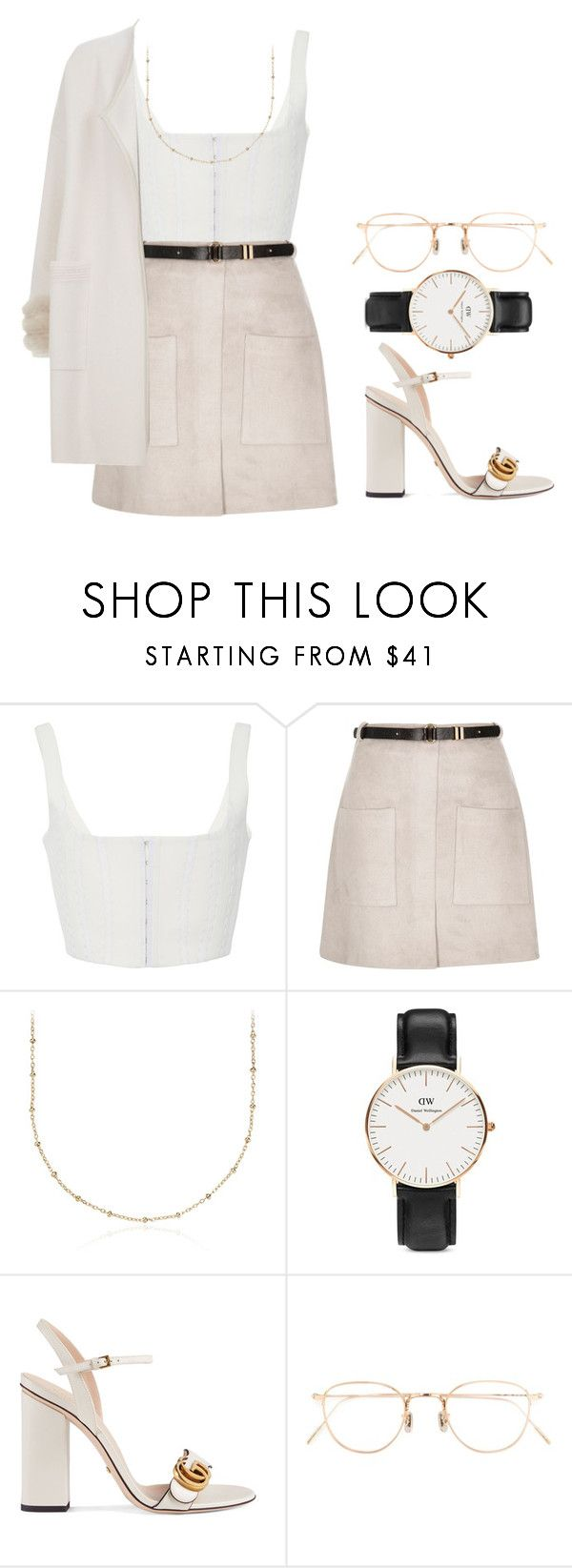 @lawrence by melanie-pacheco on Polyvore featuring moda, Max & Moi, River Island, Gucci, Blue Nile, Daniel Wellington, Eyevan 7285, fashionset, guccishoes and travelforworld