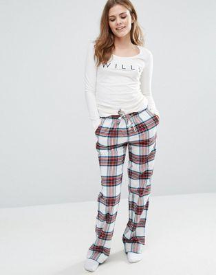 Фланелевые пижамные штаны Jack Wills Christmas