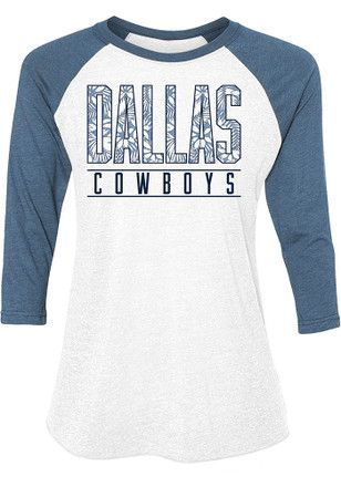 e8a7734ca Dallas Cowboys Womens Tuesday Floral White Scoop Neck Tee  https   www.fanprint.com stores american-dad ref 5750