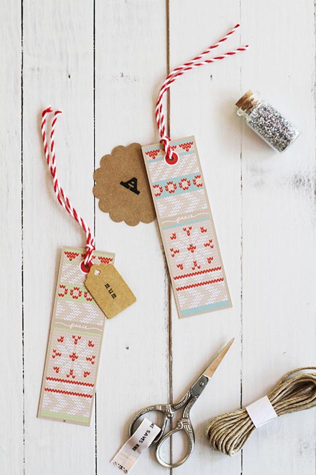 printables  DE LUNARES Y NARANJAS: Etiquetas para regalos de Navidad